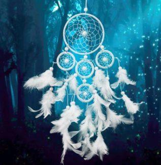Beyaz Dreamcatcher Rüzgar Çan