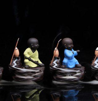 Porselen Küçük Buda Tütsülük